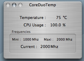 MacBook Pro Temperature under full load (AC)