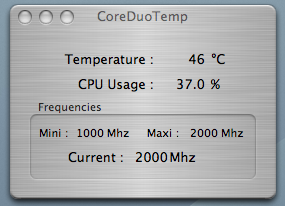 MacBook Pro Temperature under moderate load (AC)