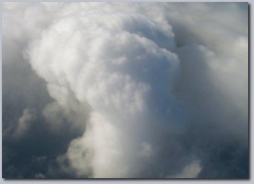 Agitated clouds.