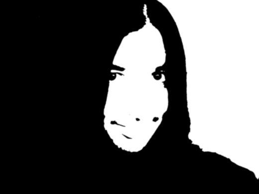 Black and white me.