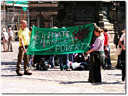 Climate change banner