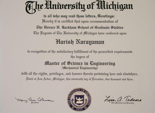 My degree