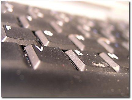 Dirty laptop keyboard.