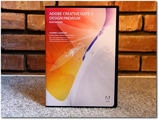 The Adobe CS3 box