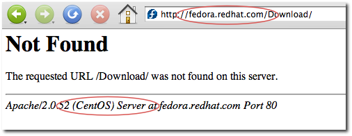 fedora.redhat.com web server error