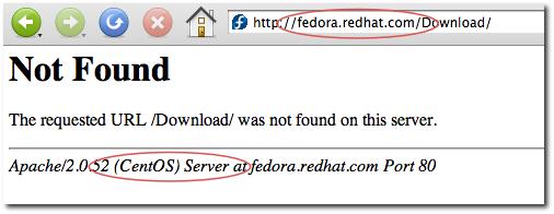 fedora.redhat.com web server error