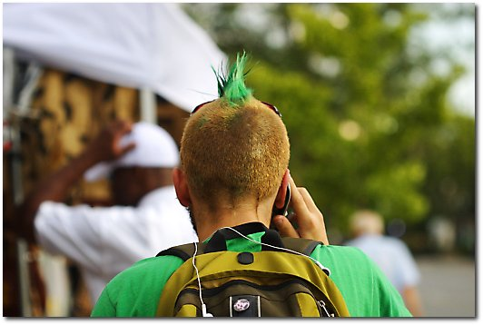Dude with green hair