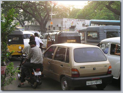 Madras traffic.