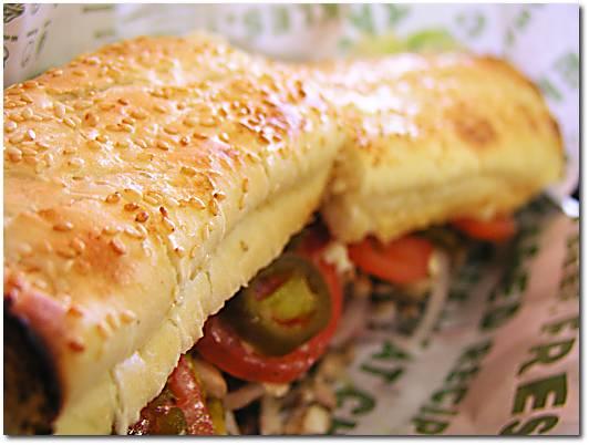 Quizno's sandwich