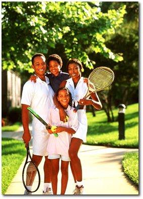 Generic suburban family