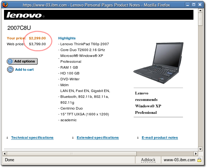 T60P Academic Pricing