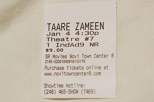 Hindi movie ticket