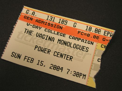 My ticket stub.